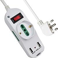 Extrastar Multipresa con 1 Polivalenti e 2 Bivalenti 10/16A,2 Porte USB (5 V, max 2,1 A),Viaggia stile,piccolo,nuovo…