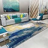 SX-ZZJ %Teppich Nordic Wohnzimmer Teppich mit Wasserzeichen Teppich Schlafzimmer voller Teppich Einfache Moderne Couchtisch Bettdecke (160 * 230cm) blau GeometrischeTeppiche