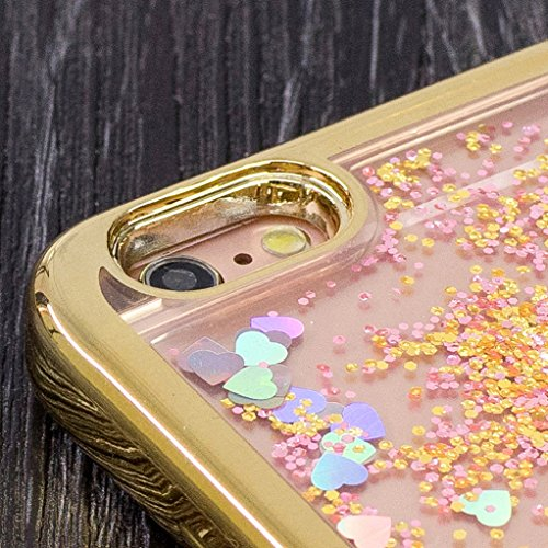 Trumpshop Smartphone Case Coque Housse Etui de Protection pour Apple iPhone 6 / iPhone 6s (4.7-Pouce) + Fée Papillon + TPU Transparent Liquide Paillettes Sables Mouvants Quicksand Jolie fille