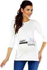 Zeta Ville - Damen Umstands-Oberteil Top T-Shirt Witzige Baby Loading Druck 549c