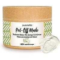 "puremetics Maschera Peel-Off ""Ginkgo Grüntee"" (65 g = 7 applicazioni) per tutti i tipi di pelle | Thalasso Detox Zero…"