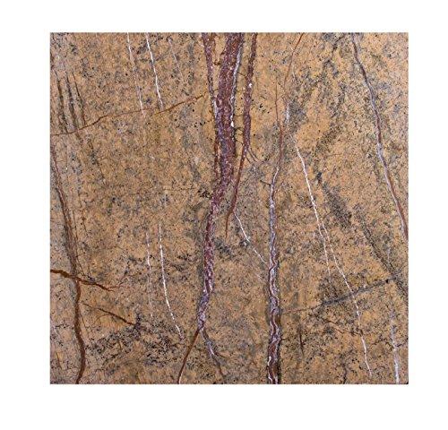 Naturstein Steinplatte Arbeitsplatte, Arbeitsplatten, Küchenplatte, Tischplatte, Schneidebrett, Käseplatte Servierplatten Bodenplatte, Stein Unterlage Brettchen 40cm x 40cm x 1,7 cm, Edel Design Unikat Handarbeit, 8 KG
