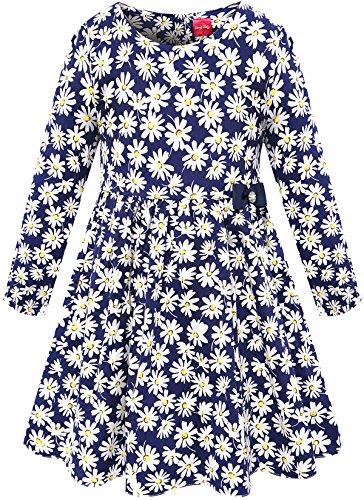 Bonny Billy Mädchen Lange Ärmel Gänseblümchen Drucken Kinder Schlittschuhläufer Kleid 110 Childrens Place Jeans