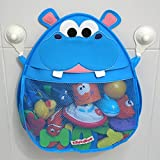 Hurley Hippo Bath Toy Storage Organiser (Blue)