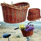soundwinds Fahrradkorb Vorne Weiden Fahrradkorb Traditionelle Weinlese Einkaufskorb für die Vorderseite des Fahrrades 3 Farbe