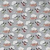 Grau Mottoparty Zoom Design aus Stoff Freiheit–100%