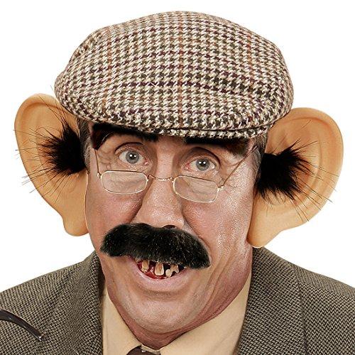 Haarreif mit Ohren und Haaren Große Segelohren Harreifen Riesen Ohren Professor Riesenohren Nerd Opa Plastikohren Alter Mann Faschingsohren Giant Ears (Alter Mann Kostüme)