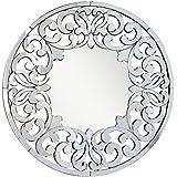 "Venetian Design Elise Modern Round Wall Mirror Diameter 30"""