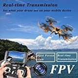 Ocamo MJX X401H FPV Quadcopter Drone with Altitude-Hold EASY TO FLY RC Real Time Transmission HD Camera RTF Explorer Copter, Left and Right Hand Switch Mode Predator, Golden color from Ocamo
