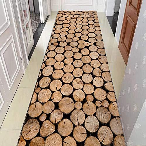 Alfombras de Pasillo Largo marrón Runner Area para baño Cocina Entrada Dormitorio Lavable en la Lavadora...