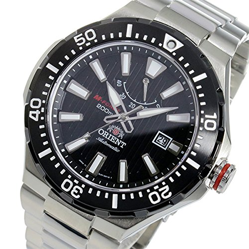 Orient Men's Automatic Watch with Black Dial Analogue Display Stainless Steel SEL07002B0