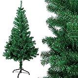 OZAVO Weihnachtsbaum künstlicher, Tannenbaum 120 cm, Christbaum in grün, inkl. Metallständer, schwer entflammbar