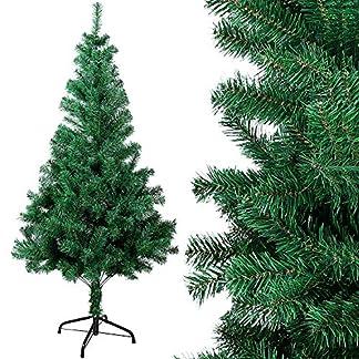 OZAVO Árbol de Navidad Artificial de Pino,Verde,120cm 200 Ramas,Arboles Decoración Navideña,Maxi-Relleno PVC Abeto,Soporte Metálico