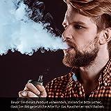 Elektrische Zigaretten Starterset,Dampfer, E-Shishas mit Top Nachfüllung(Maximal 2mL) mit Mehrfarben-Licht, 0,25 Ohm auswechselbare Zerstäuber, einstellbare Leistung (30W-50W), 1500mAh Akku (E-Flüssigkeit nicht inbegriffen), E-Zigarette ohne Nikotin(schwarz).Deutsche Bedienungsanleitung -