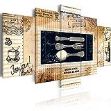 murando - Bilder 200x100 cm Vlies Leinwandbild 5 TLG Kunstdruck modern Wandbilder XXL Wanddekoration Design Wand Bild - Vintage KÜCHE 020115-87