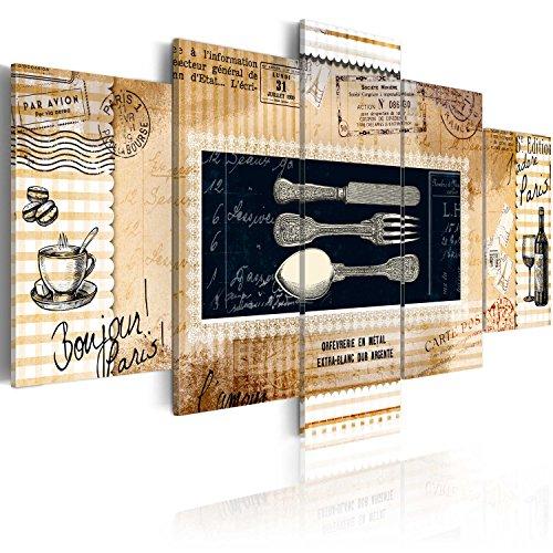 murando Quadro 100x50 cm 5 Pezzi Stampa su Tela in TNT XXL Immagini Moderni Murale Fotografia Grafica Decorazione da Parete Cucina Quadro 020115-87
