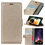 Xiaomi Mi 8 SE Case, Codream Luxury PU Leather Wallet Flip Protective Premium Case Cover With Card Slots And Stand For Xiaomi Mi 8 SE Golden