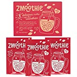 ZMOOTHIE 3 Easy Healthy Office Meals, Delicious Natural Smoothie Mixes, Just Add Water, Natural Freeze-Dried Fruits & Berries With Healthy Prebiotic Fibres, Excellent Healthy Breakfast Or Office Meal, Just 30 Seconds To Prepare (Strawberry-Banana Bliss)