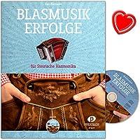 blasmusik Succès–20titre les plus populaires de Le Domaine blasmusik, mittelschwer arrangés de Karl Kier Maier pour accordéon de Styrie–avec CD, poignée Police Table et cœur coloré Note Pince