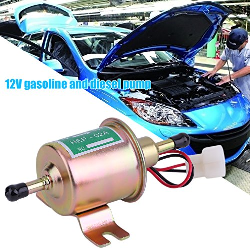 ACEHE 12V Universal Kraftstoffpumpe Benzinpumpe Elektrische Diesel Benzin Baumaschinen