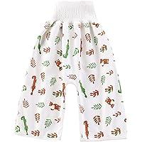 Vertvie Jupe de Couche Bébé 2 en 1 Réutilisable Anti-Pipi Au Lit Lavable Absorbants Shorts Pantalons D'entraînement…