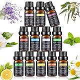 Joylink Aceites Esenciales, 100% Natural Puro, 12 x 10 ml Set de Aceites Esenciales (Lavanda, Menta, Naranja Dulce, Eucalipto, Arbol de Té, Hierba de Limón y otros)