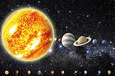Poster Solar System Planets Mural Decoration Galaxy Cosmos Space Universe All Sky Stars Galaxy Universe Earth | Wallposter Photoposter wall mural wall decor by GREAT ART (55 Inch x 39.4 Inch /140 cm x 100 cm) - low-cost UK light shop.