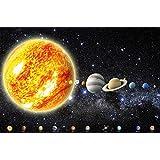 Póster Sistema solar Planetas Mural Decoración Galaxia Cosmos Espacio Universo Cielo Estrellas Galaxy Tierra | foto póster mural imagen deco pared by GREAT ART (140 x 100 cm)