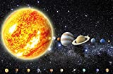 Affiche de Décoration murale de planètes du système solaire Cosmos Galaxie espace univers tout le ciel, les étoiles, galaxie de l'espace Terre | mur deco Poster mural Image by GREAT ART (140 x 100 cm)
