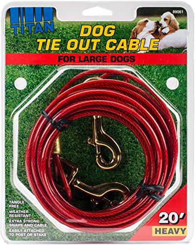 Artikelbild: Coastal Pet Products 89061 hvy20 Titan Hund Krawatte Out Kabel rot, 20 ft