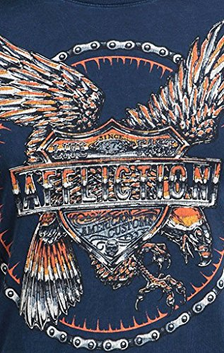 Affliction T-Shirt AC Raptor Blau Blau