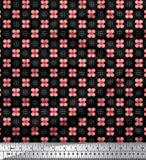 Soimoi Schwarz japanischer Kreppsatin Stoff Gepunktete