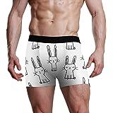 JIRT Slip Boxer da Uomo Simpatico Modello di Coniglio Intimo Maschile Traspirante bauli Elasticizzati Bulge Pouch Morbide Mut