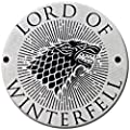 Game Of Thrones Lord Of Winterfell Stark Sigil Pin Badge Button Brooch Official
