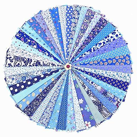 RayLineDo® Lot 42pièces 20*30cm assorties prédécoupés Impression Coupon de Tissu Matériau mixte carrés Bundle Quilt Tissu Patchwork pour DIY fait à la main Craft