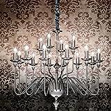 MIA Light Mittelalter Kronleuchter Ø900mm/ Antik/Flämisch/ Chrom/Lampe Leuchte Lüster Lüsterlampe Lüsterleuchte