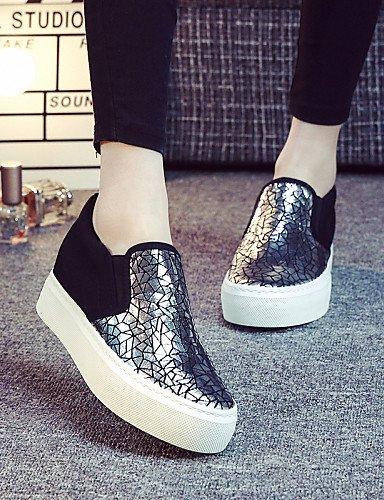 ZQ gyht Scarpe Donna - Sneakers alla moda / Scarpe da ginnastica / Senza lacci - Tempo libero / Ufficio e lavoro / Casual / Sportivo -Plateau / , golden-us8 / eu39 / uk6 / cn39 , golden-us8 / eu39 / u black-us7.5 / eu38 / uk5.5 / cn38