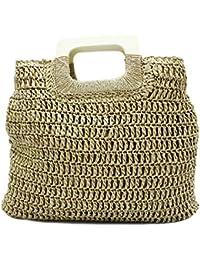 962f191c3 MISEMIYA - Bolsos rafia para mujer bolso shopper bolso de mano SR-LL807(42