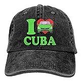 2018 Adult Fashion Cotton Denim Baseball Cap Love Cuba with Vintage Car Classic Dad Hat Adjustable Plain Cap