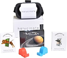 Halucinate Live Animals 4D, Transport 4D, Real Space 4D, VR headset and Pair of mobile stand Combo
