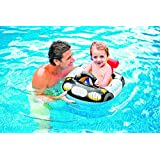 Intex Kiddie Inflatable Swim Pool Water Float Ring Cruiser Police Car Shape - For Ages 1+ Years Old