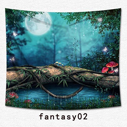 jtxqe Tapisserie Fantasy Print Hanging Cloth Home Décoration Tapisserie 2 200 * 180cm