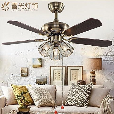 CHJK BRIHT Continental Ventilatore da soffitto American Restaurant Fan leggeri