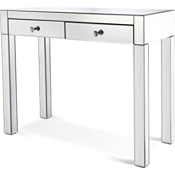 DURA TRIBE Contemporary 2 Drawer Large Mirrored Console Table/Dressing Table