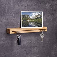 Schlüsselbrett Holz in 30cm – viele Varianten / Holzarten (in Bayern handgefertigt) Schlüsselhalter Eiche/ moderne Schlüsselleiste als Board Schlüssel-Aufhänger / Eichenholz