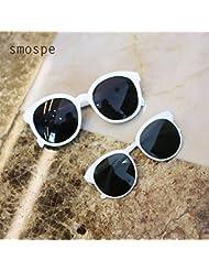 SMOSPE Gafas de sol retro del padre-niño / yurt grande del marco Polarized espejo / madre esencial de la colocación y accesorios de la hija , white , mom