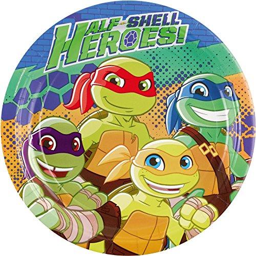 Amscan Teenage Mutant Ninja Turtles-Pappteller 8 Stück bunt 23cm - Ninja Hintergrund Turtle
