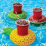 Juguetes inflables del flotador de la bebida, juguetes de la piscina del baño del verano 3pcs Juguetes lindos del agua de la playa del ba?o de la piscina del sostenedor de la bebida de los juguetes
