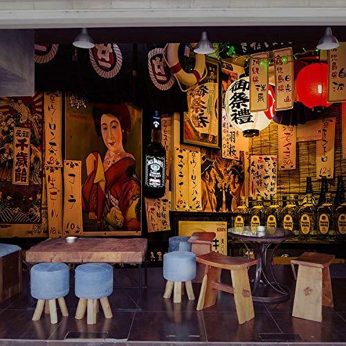 Carta da parati in stile giapponese izakaya vintage ristorante giapponese sushi shop wallpaper ristorante bar street mural-300 * 210cm