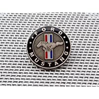 Ford Mustang Pin Shelby GT500 GT350 Shelby-Mustang Mach12345 V8 V6 22,5 mm